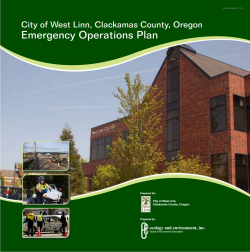 Emergency Operations Plan (EOP)